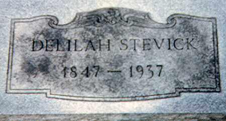 BAKER STEVICK, DELILAH - Richland County, Ohio | DELILAH BAKER STEVICK - Ohio Gravestone Photos