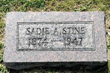 STINE, SADIE A - Richland County, Ohio | SADIE A STINE - Ohio Gravestone Photos