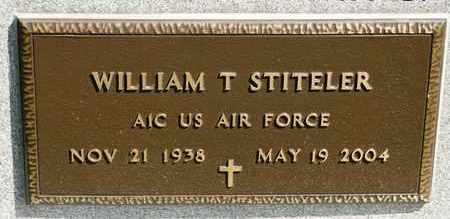 STITELER, WILLIAM T - Richland County, Ohio | WILLIAM T STITELER - Ohio Gravestone Photos