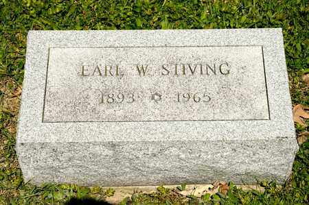 STIVING, EARL W - Richland County, Ohio | EARL W STIVING - Ohio Gravestone Photos
