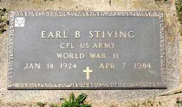 STIVING, EARL B - Richland County, Ohio | EARL B STIVING - Ohio Gravestone Photos