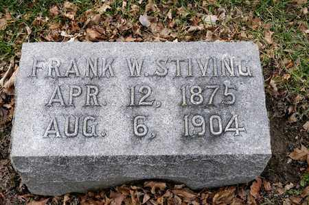 STIVING, FRANK W - Richland County, Ohio | FRANK W STIVING - Ohio Gravestone Photos