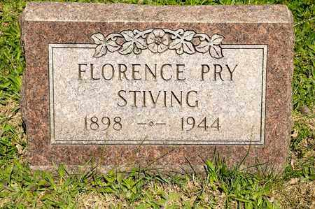 PRY STIVING, FLORENCE - Richland County, Ohio | FLORENCE PRY STIVING - Ohio Gravestone Photos
