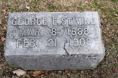 STIVING, GEORGE E - Richland County, Ohio | GEORGE E STIVING - Ohio Gravestone Photos