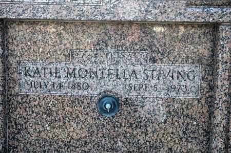 MONTELLA STIVING, KATIE - Richland County, Ohio | KATIE MONTELLA STIVING - Ohio Gravestone Photos