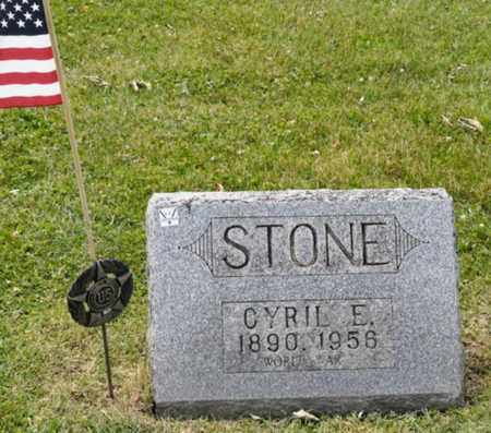 STONE, CYRIL E - Richland County, Ohio | CYRIL E STONE - Ohio Gravestone Photos