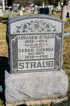 STRAUB, ABRAHAM - Richland County, Ohio | ABRAHAM STRAUB - Ohio Gravestone Photos