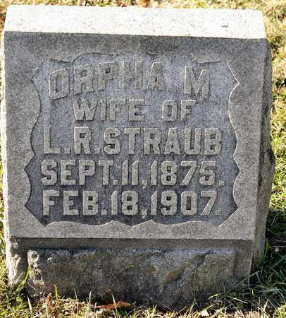 STRAUB, ORPHA M - Richland County, Ohio | ORPHA M STRAUB - Ohio Gravestone Photos