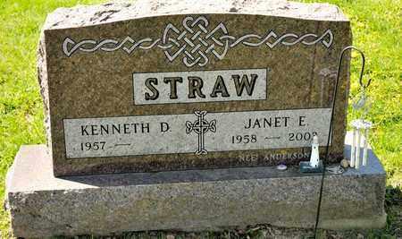 STRAW, JANET E - Richland County, Ohio | JANET E STRAW - Ohio Gravestone Photos