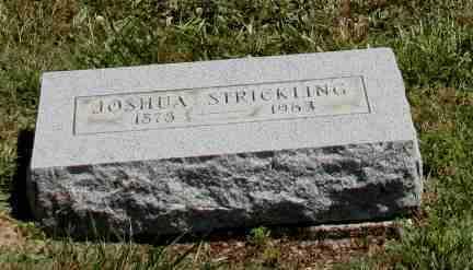 STRICKLING, JOSHUA - Richland County, Ohio | JOSHUA STRICKLING - Ohio Gravestone Photos