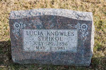 KNOWLES STRIKOL, LUCIA - Richland County, Ohio   LUCIA KNOWLES STRIKOL - Ohio Gravestone Photos