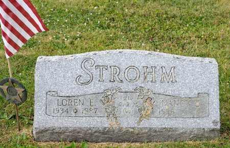 STROHM, LOREN E - Richland County, Ohio | LOREN E STROHM - Ohio Gravestone Photos