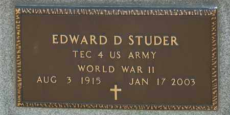 STUDER, EDWARD D - Richland County, Ohio | EDWARD D STUDER - Ohio Gravestone Photos