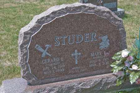 STUDER, MARY E - Richland County, Ohio | MARY E STUDER - Ohio Gravestone Photos