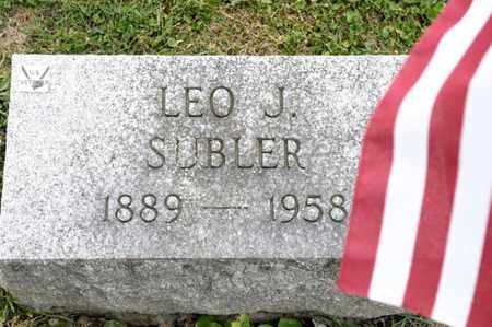 SUBLER, LEO J - Richland County, Ohio | LEO J SUBLER - Ohio Gravestone Photos