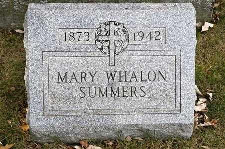 SUMMERS, MARY - Richland County, Ohio | MARY SUMMERS - Ohio Gravestone Photos