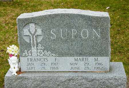 SUPON, FRANCIS F - Richland County, Ohio | FRANCIS F SUPON - Ohio Gravestone Photos