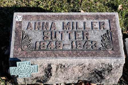 MILLER SUTTER, ANNA - Richland County, Ohio | ANNA MILLER SUTTER - Ohio Gravestone Photos
