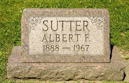SUTTER, ALBERT F - Richland County, Ohio | ALBERT F SUTTER - Ohio Gravestone Photos