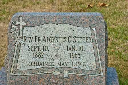 SUTTER, ALOYSIUS C - Richland County, Ohio | ALOYSIUS C SUTTER - Ohio Gravestone Photos