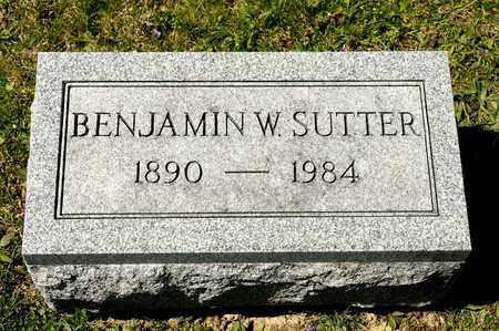 SUTTER, BENJAMIN W - Richland County, Ohio | BENJAMIN W SUTTER - Ohio Gravestone Photos