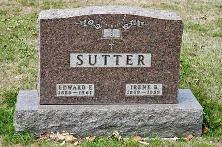 SUTTER, EDWARD E - Richland County, Ohio | EDWARD E SUTTER - Ohio Gravestone Photos