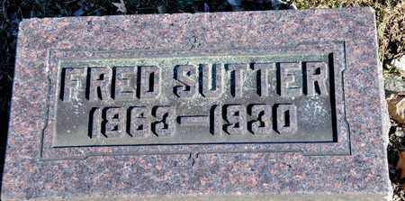 SUTTER, FRED - Richland County, Ohio | FRED SUTTER - Ohio Gravestone Photos