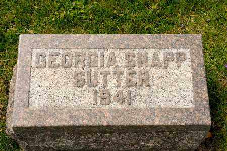 SNAPP SUTTER, GEORGIA - Richland County, Ohio | GEORGIA SNAPP SUTTER - Ohio Gravestone Photos