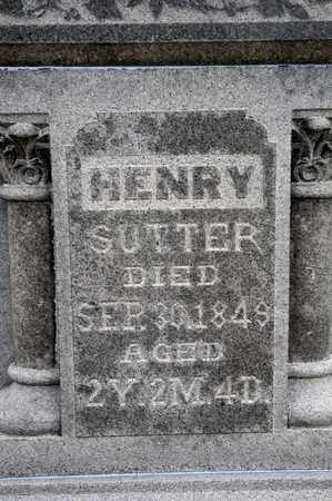 SUTTER, HENRY - Richland County, Ohio | HENRY SUTTER - Ohio Gravestone Photos
