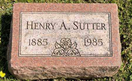 SUTTER, HENRY A - Richland County, Ohio | HENRY A SUTTER - Ohio Gravestone Photos