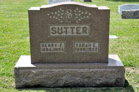 SUTTER, HENRY F - Richland County, Ohio | HENRY F SUTTER - Ohio Gravestone Photos
