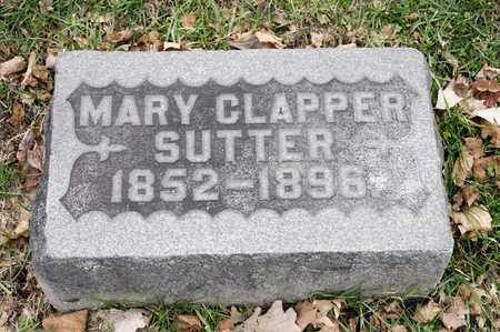 CLAPPER SUTTER, MARY - Richland County, Ohio | MARY CLAPPER SUTTER - Ohio Gravestone Photos