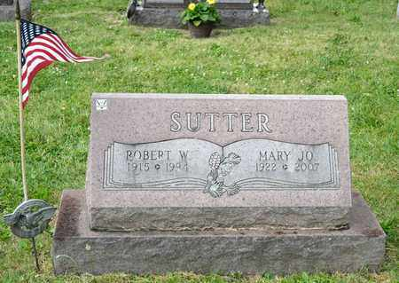 SUTTER, ROBERT W - Richland County, Ohio | ROBERT W SUTTER - Ohio Gravestone Photos