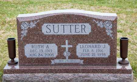 SUTTER, RUTH A - Richland County, Ohio | RUTH A SUTTER - Ohio Gravestone Photos