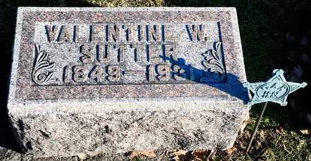 SUTTER, VALENTINE W - Richland County, Ohio | VALENTINE W SUTTER - Ohio Gravestone Photos