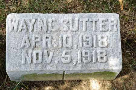 SUTTER, WAYNE - Richland County, Ohio | WAYNE SUTTER - Ohio Gravestone Photos