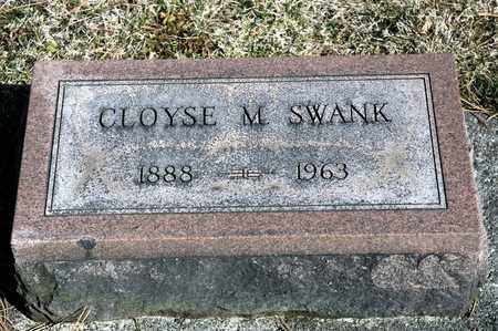SWANK, CLOYSE M - Richland County, Ohio | CLOYSE M SWANK - Ohio Gravestone Photos