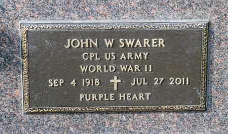 SWARER, JOHN W - Richland County, Ohio | JOHN W SWARER - Ohio Gravestone Photos