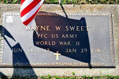 SWEET, WAYNE W - Richland County, Ohio | WAYNE W SWEET - Ohio Gravestone Photos
