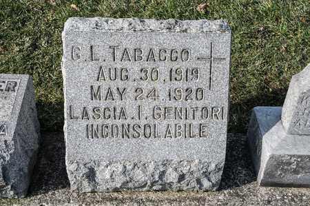 TABACCO, G L - Richland County, Ohio | G L TABACCO - Ohio Gravestone Photos