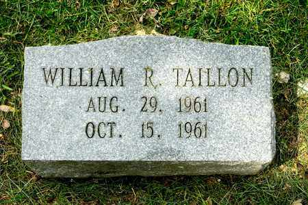 TAILLON, WILLIAM R - Richland County, Ohio | WILLIAM R TAILLON - Ohio Gravestone Photos