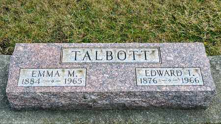 TALBOTT, EDWARD T - Richland County, Ohio | EDWARD T TALBOTT - Ohio Gravestone Photos