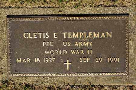 TEMPLEMAN, CLETIS E - Richland County, Ohio | CLETIS E TEMPLEMAN - Ohio Gravestone Photos