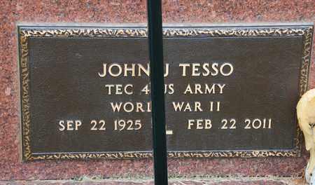 TESSO, JOHN J - Richland County, Ohio | JOHN J TESSO - Ohio Gravestone Photos