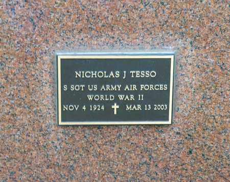 TESSO, NICHOLAS J - Richland County, Ohio | NICHOLAS J TESSO - Ohio Gravestone Photos