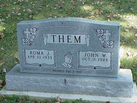 THEM, ROMA J. - Richland County, Ohio | ROMA J. THEM - Ohio Gravestone Photos