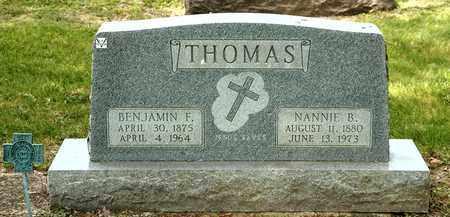 THOMAS, NANNIE B - Richland County, Ohio | NANNIE B THOMAS - Ohio Gravestone Photos