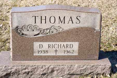 THOMAS, D RICHARD - Richland County, Ohio | D RICHARD THOMAS - Ohio Gravestone Photos