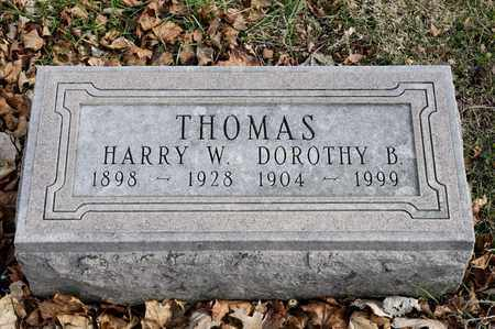 THOMAS, DOROTHY B - Richland County, Ohio | DOROTHY B THOMAS - Ohio Gravestone Photos