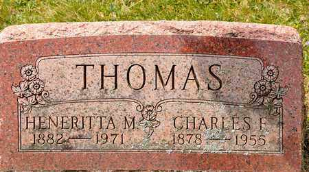 THOMAS, CHARLES F - Richland County, Ohio | CHARLES F THOMAS - Ohio Gravestone Photos